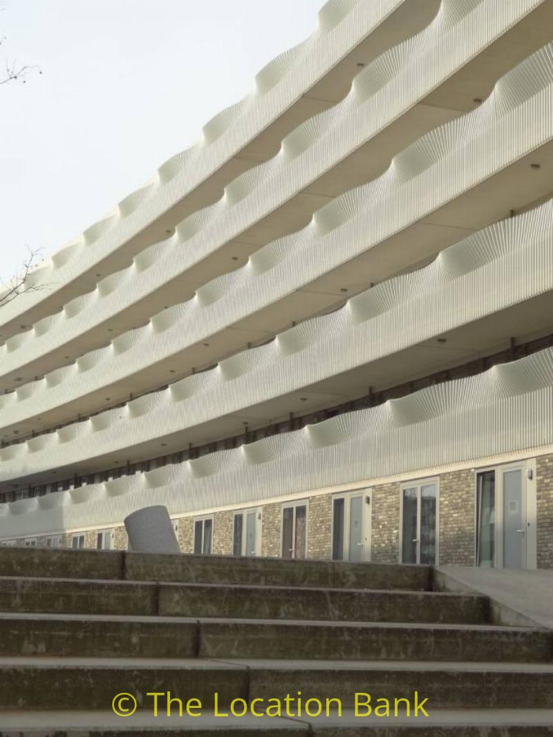Trap en Modern flatgebouw