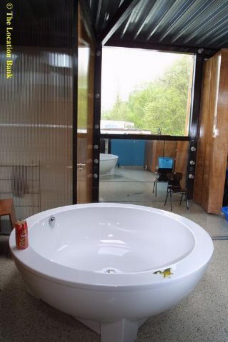 Moderne open badkamer