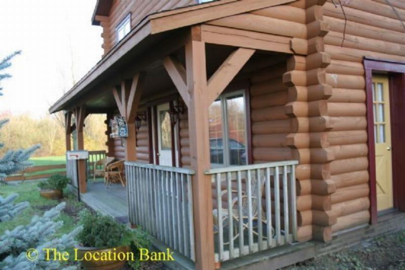 Houten huis of blokhut en chalet amerikaans huis