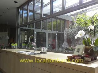 Keuken met glas raam
